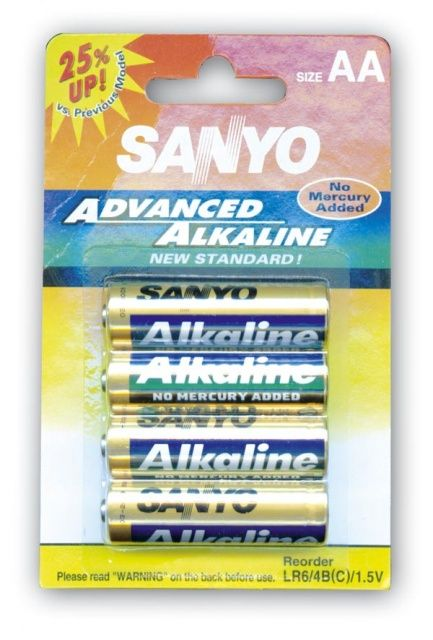 AA baterie, alkalická tužka sanyo