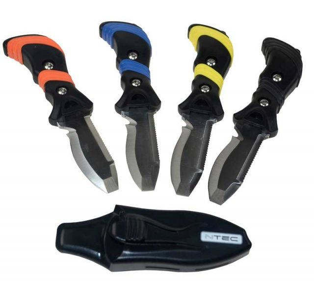 Nůž malý pro potápění a vodáky s tupou špičkou NTEC