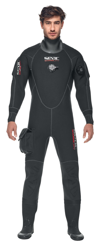 WARMDRY suchý oblek 4mm včetně kukly a bot, použitý SEAC SUB